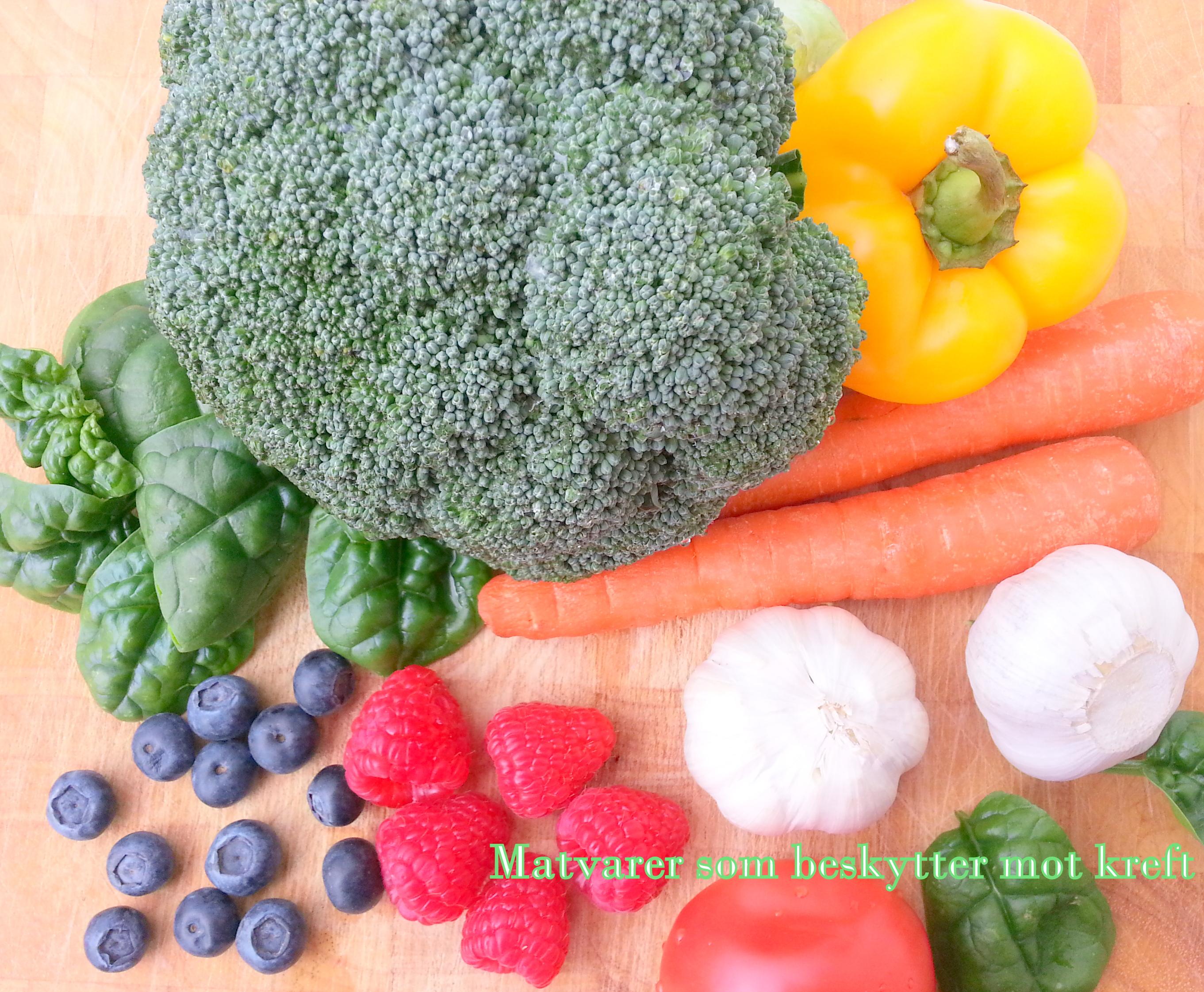 Matvarer som beskytter mot kreft